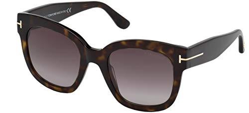 Tom Ford FT0613 52T Dark Havana Beatrix Square Sunglasses Lens Category 3 Size