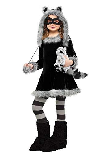 Fun World Sweet Raccoon Costume, Medium 8 - 10, Black