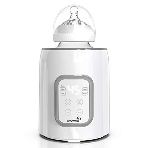 Bottle Warmer, 5-in-1 Fast Baby Bottle Warmer and Sterilizer with Timer Baby Food Heater&Defrost BPA-Free Warmer with LCD Display Accurate Temperature Control for Breastmilk and Formula
