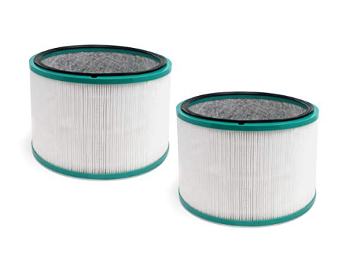 Fette Filter 2 Pack of HEPA Filters Compatible with Dyson HP01, HP02, DP01,DP02 Desk Purifiers. Compare to Part # 968125-03 for use with Dyson Pure Cool Link Fans