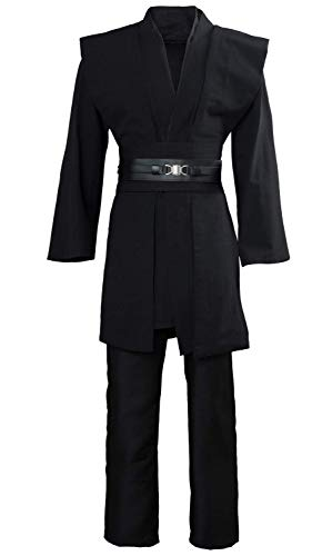 GOLDSTITCH Men Tunic Hooded Robe Cloak Knight Fancy Cool Cosplay Costume