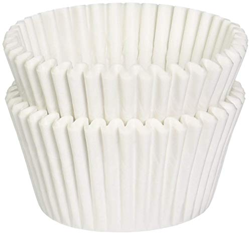 white Mini Baking Cups,fluted cupcake liners oven safe paper l 1-1/2 x 1'' = 3.5 appx. 10,000