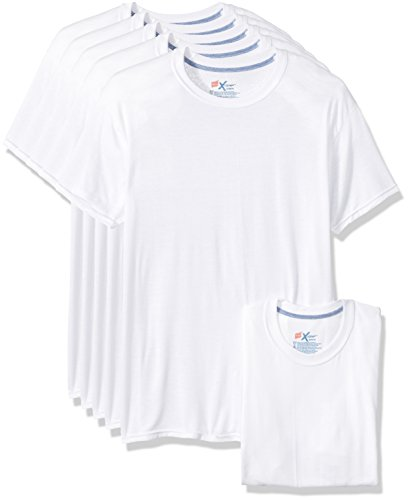 Hanes Men's 5-Pack X-Temp Comfort Cool Crewneck Undershirt, White, X-Large