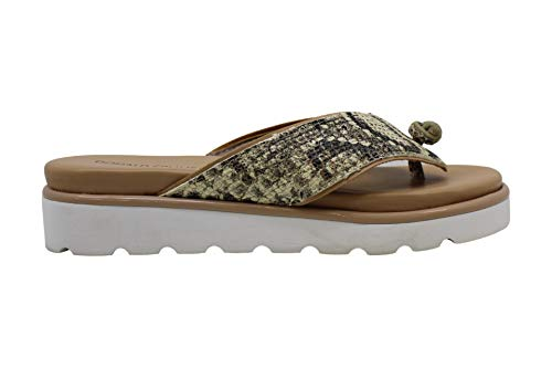 Donald J Pliner Womens Leaane Thong Sandals Leather Open Toe, Tan, Size 11.0