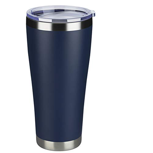 MEWAY 32oz Tumbler Double Wall Vacuum Insulated Travel Mug, Stainless Steel Coffee Tumbler with Lid, Durable Powder Coated Coffee Cup, Keep Drinks Cold & Hot (Navy, 1)