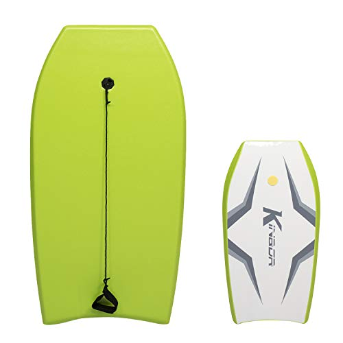 Kinbor Bench Body Board 41 Inch Lightweight Bodyboard Surfing for Sea Beach River Pool, Perfect Surfing for Teens and Adults