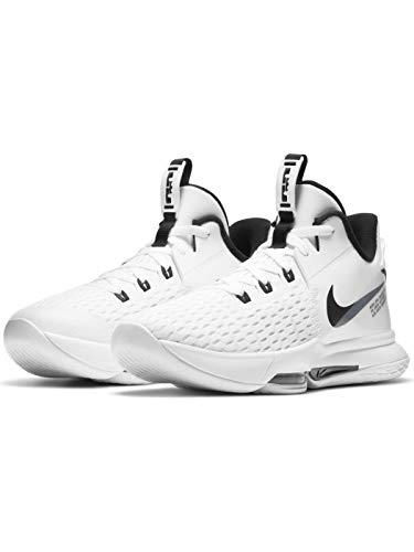 Nike Lebron Witness 5 Mens Basketball Shoe Cq9380-101 Size 13 White/Black