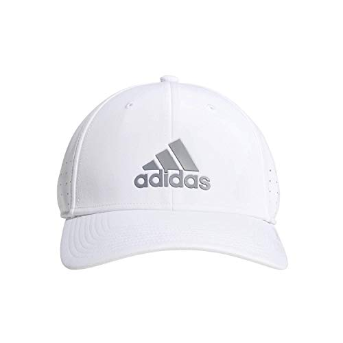 adidas Men's Gameday II Stretch Fit Cap, White/Grey, S/M