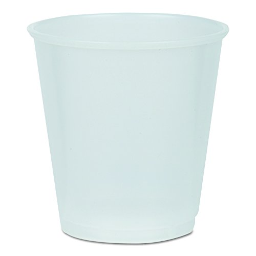 Boardwalk YE-3 Plastic Cold Cups, 3 oz, Translucent (30 Packs of 80)