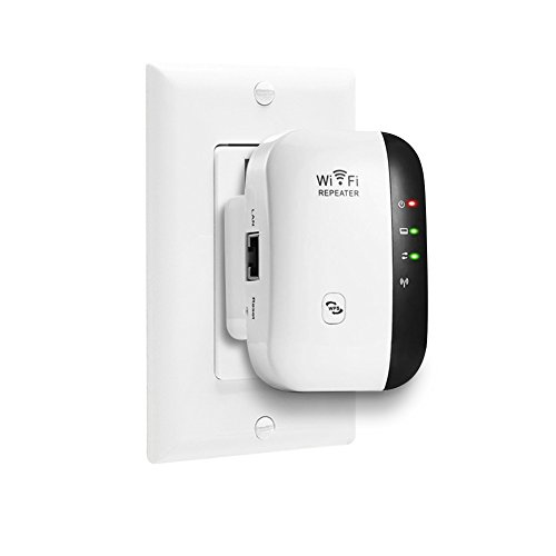 WiFi Range Extender,WiFi Extender Signal Booster,Easy Set-Up,2.4G Network with Integrated Antennas LAN Port,Supports Repeater/AP,Mode and WPS Function