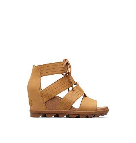 Sorel Women's Joanie II Lace Wedge Sandals, Camel Brown, 8 Medium US