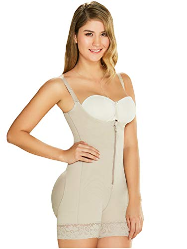 DIANE & GEORDI 2396 Fajas Colombianas Reductoras y Moldeadoras Postparto Colombian Fajas Postpartum Girdle Body Shaper for Women BeigeM