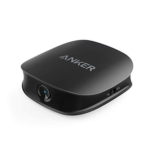 Anker Soundsync A3341 Bluetooth 2-in-1 Transmitter and Receiver, with Bluetooth 5, HD Audio with Lag-Free Synchronization, and AUX/RCA/Optical Connection for TV and Home Stereo System (Renewed)