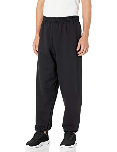 Hanes Men's EcoSmart Fleece Sweatpant, Black, M