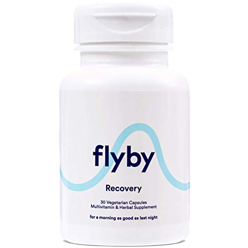 Flyby Party Recovery & Prevention Pills for Better Mornings & Rapid Hydration Aid (30 Capsules) - Manufactured in USA - Electrolytes, Dihydromyricetin (Dhm), Chlorophyll, Prickly Pear & Milk Thistle
