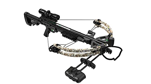 CenterPoint AXCS185CK Sniper 370 Crossbow Package, Camouflage
