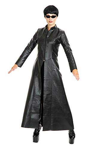 Charades Women's Cypher Enigma Coat, Black, Small