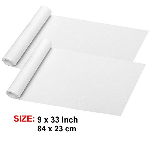9' x 33' Clear Skateboard Grip Tape Sheet 2 Pack, ZUEXT Bubble Free Waterproof Scooter Grip Tape, Longboard Griptape, Sandpaper for Rollerboard, Stairs, Gun, Pedal, Pistol, Wheelchair, Steps (84x23cm)