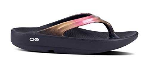 OOFOS - Women's OOlala - Post Exercise Active Sport Recovery Thong Sandal - Rose Gold - W9