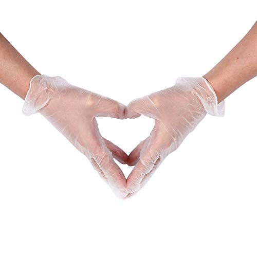 disposable gloves, plastic PVC material, 100 / box large size