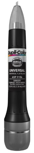 Dupli-Color ASF0104 Universal Flat Black Exact-Match Scratch Fix All-in-1 Touch-Up Paint - 0.5 oz.