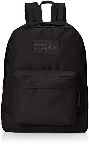 JanSport Mono Superbreak Backpack - Monochrome Trend Collection Laptop Bag, Black