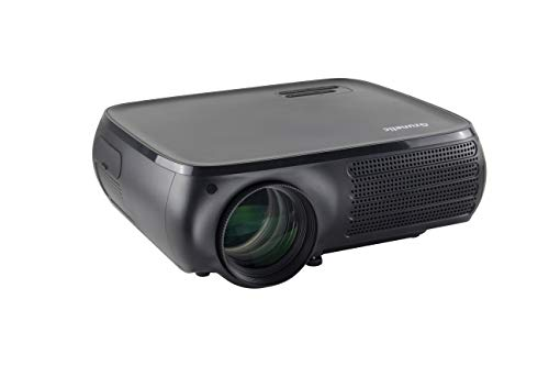 Native 1080P Video Projector - Gzunelic 8000 Lumens Home Theater LED Projector, ±50° 4D Keystone Correction, X/Y Zoom, 10000:1 Contrast, LCD Full HD Proyector Ideal for Home