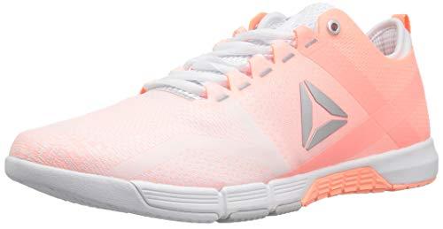Reebok Women's CROSSFIT Grace Tr Cross Trainer, White/Digital Pink/Silver, 10 M US