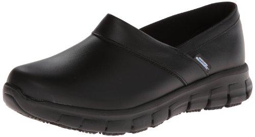 Skechers for Work Women's Relaxed Fit Slip Resistant Work Shoe, Black, 6.5 M US