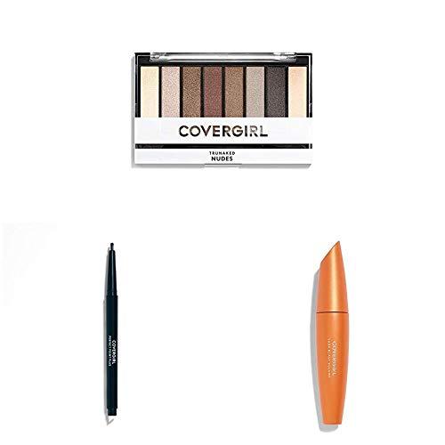 Covergirl Eye Makeup Kit with TruNaked Eyeshadow Palette in Nude, Lash Blast Volume Mascara in Very Black and Perfect Point Plus Eyeliner in Black Onyx
