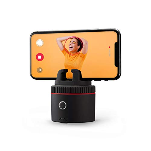 Pivo Pod Red - Auto Tracking Smartphone Interactive Content Creation Pod – 360° Hands-Free Photos or Videos – Easy Special Effects for iPhone or Android – Face, Body & Action Tracking