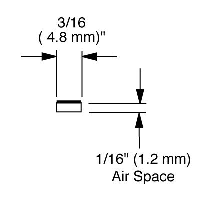 EconoSpace, Art and Glass Separator, 1/16' airspace, 100 ft bundle - Clear