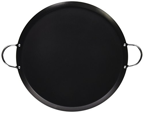 IMUSA USA 14' Nonstick Carbon Steel Small Round Comal with Metal Handles, 13.5-Inch