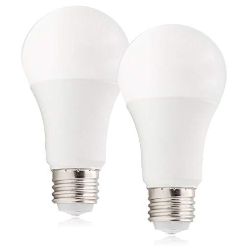 Maxxima 3-Way LED A19 Light Bulb, 40W/60W/100W Equivalent, 600-1200 - 1800 Lumens, 2700K Warm White - 3 Brightness Levels (2 Pack)