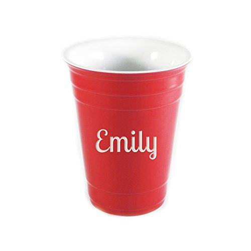 Personalized Ceramic Red Solo Cup