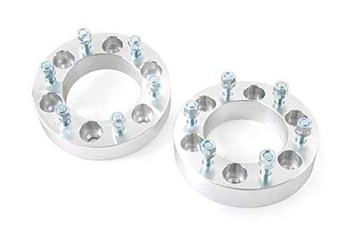 Rough Country 1.5' Wheel Spacers (fits) 1977-1987 Chevy GMC C10/K10 C15/K15 | Aluminum | 6x5.5 | Pair | 10086