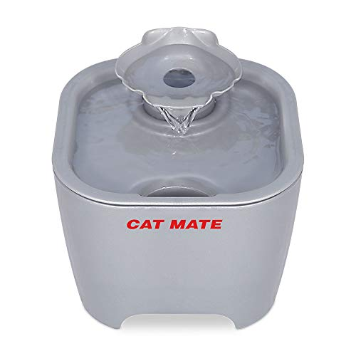 Cat Mate Shell Pet Water Fountain 100 Fl Oz. (White) (Titanium)