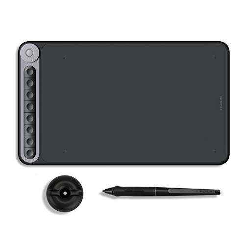 HUION Inspiroy Dial Q620M Graphic Drawing Tablet Android Supported Wireless Digital Pen Tablet with Battery-Free Stylus Tilt, 8 Press Keys and Dial Controller, 10x6inch Digital Drawing Pad