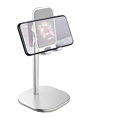 KINGCCI Cell Phone Stand, Tablet Holder,Universal Multi Angle Aluminum Stand,elescopic Adjustable Stand Holder for 4.7-13 inch iPhone, Samsung, iPad, Kindle, eBook Reader (Silver)
