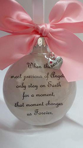 Baby Girl Memorial Ornament Most Precious of Angels In Memory of Infant Loss Sympathy Gift Pink Bow