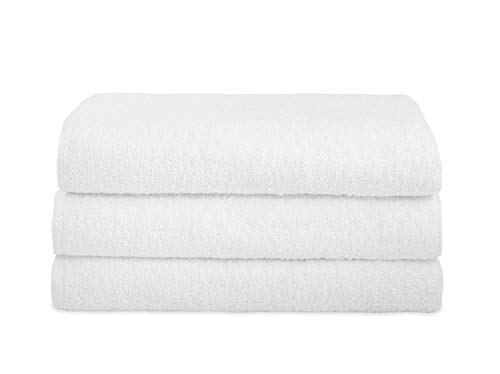 Classic Turkish Cotton Bath Towel Set - Thick and Soft Terry Cloth Hotel and Spa Quality Bath Towels Made with 100% Turkish Cotton (White, 30x60)