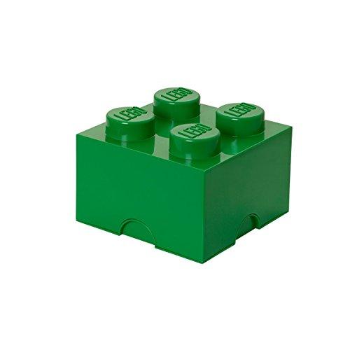 Room Copenhagen, Lego Storage Brick Box - Stackable Storage Solution - Brick 4, Dark Green (4003)
