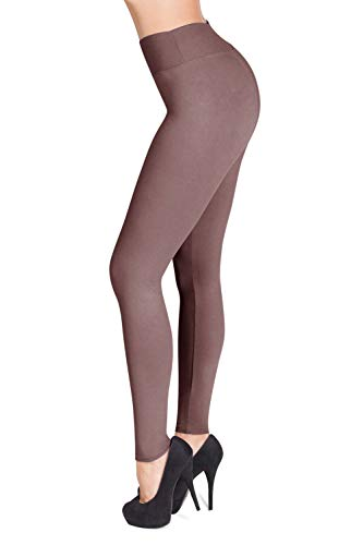 SATINA #1 High Waisted Buttery Soft Leggings | Regular and Plus Size | 22 Colors (One Size, Mauve)