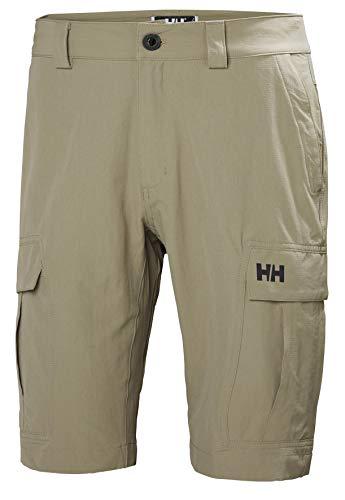 Helly Hansen Men's HH Cargo II Quick Dry Stretch Outdoor Shorts, 720 Fallen Rock, Size 36