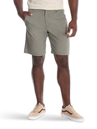 Wrangler Authentics Men's Performance Comfort Waist Flex Flat Front Short, Army Green, 36