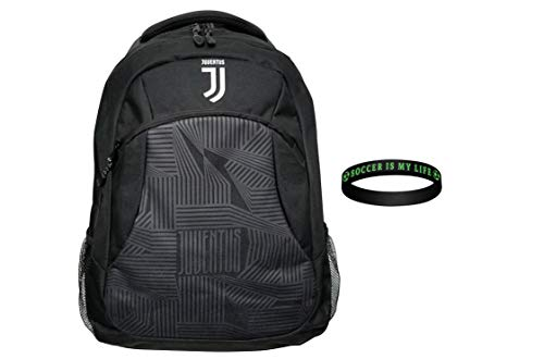 icon sports Compatible with Juventus backpack soccer bag licensed official School Mochila set 1 (juve set 1)