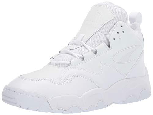 PUMA Source MID Sneaker, Black White, 9 M US