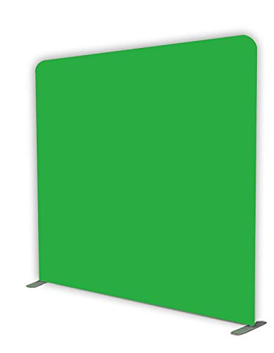 Glide Gear 8x8 Gaming Photography Video Green Screen Wrinkle Free Backdrop 4X Colors: Black/Blue/Green Chromakey/White with Collapsible Stand