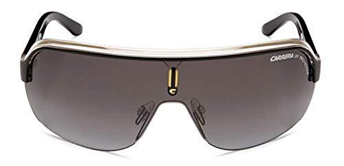 Carrera TOPCAR 1/S Pilot Sunglasses, Black Crystal Yellow Frame/Gray Gradient Lens, 76 mm