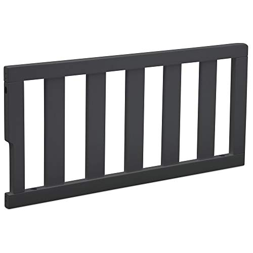 Delta Children Bennington Elite Toddler Guardrail #550725, Charcoal Grey